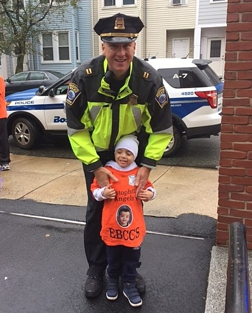 BPD Officers Honored and Humbled to Provide Police Escort to Little Boy Battling Leukemia in East Boston