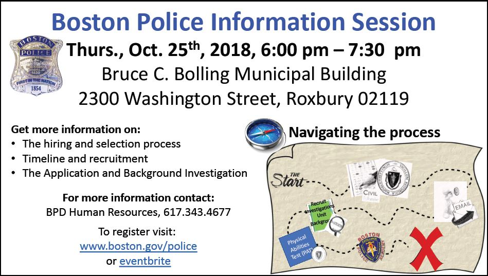 Boston Police Information Session Announced