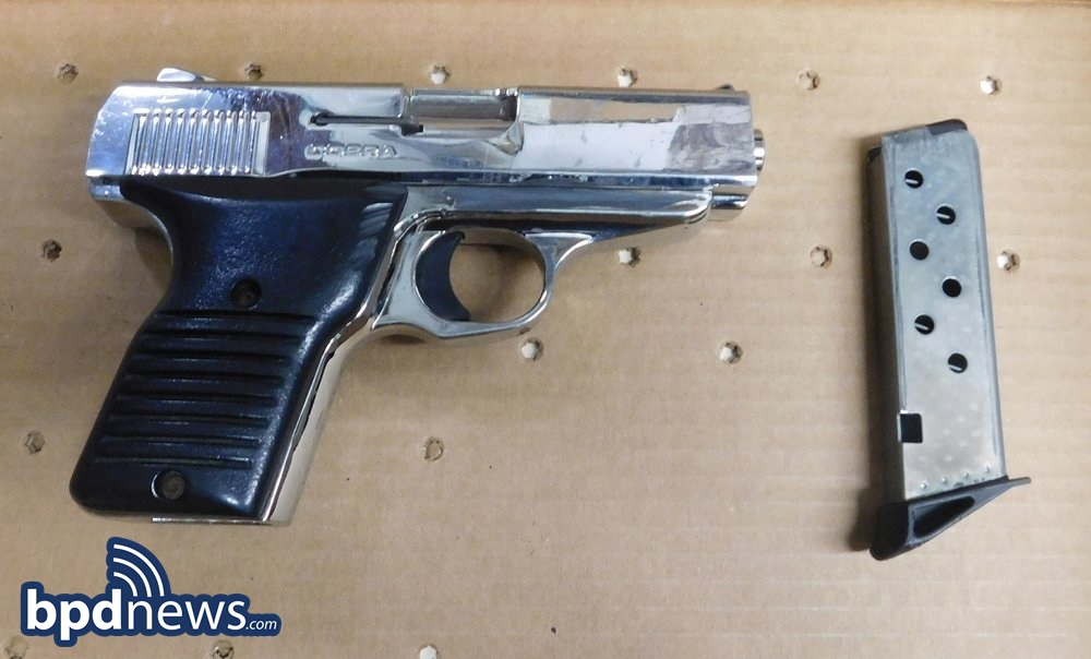One Person Arrested for Unlawful Possession of a Firearm in Roxbury