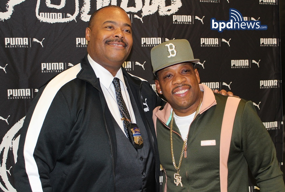 BPD in the Community: Commissioner Gross Stops by the Michael Bivins HS Basketball Jamboree for Peace at Madison Park High