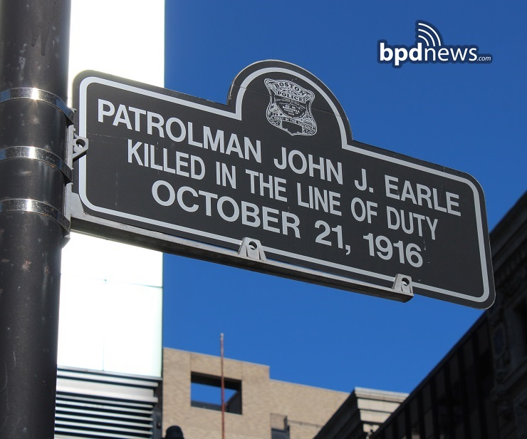 Boston Police Department Remembers the Service and Sacrifice of Officer John Earle Killed in the Line of Duty 102 Years Ago