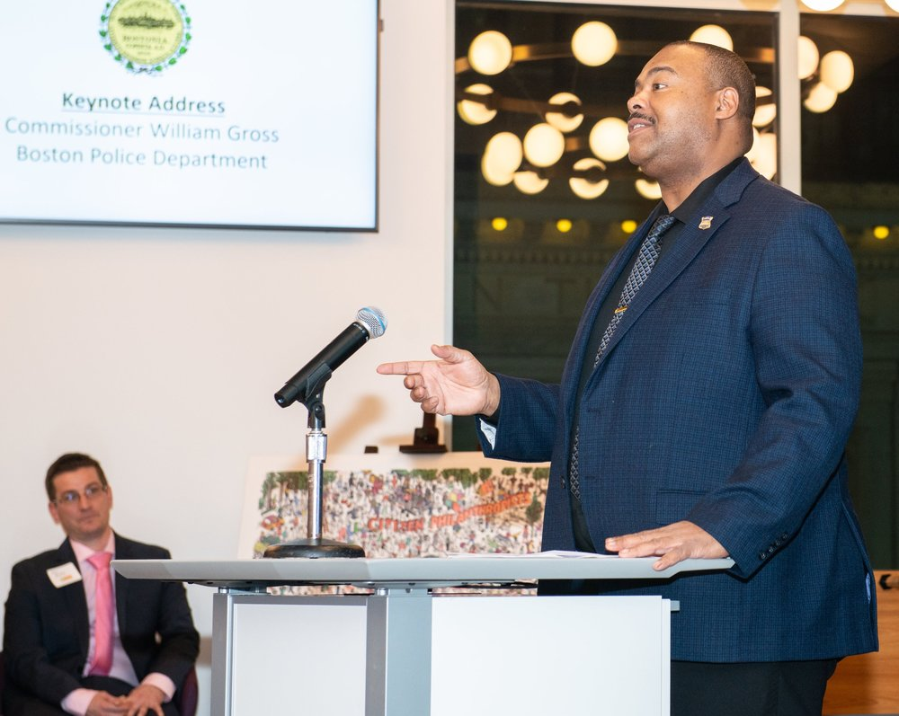 BPD in The Community: Commissioner Gross Gives Keynote at Downtown Boston Business Improvement District Meeting