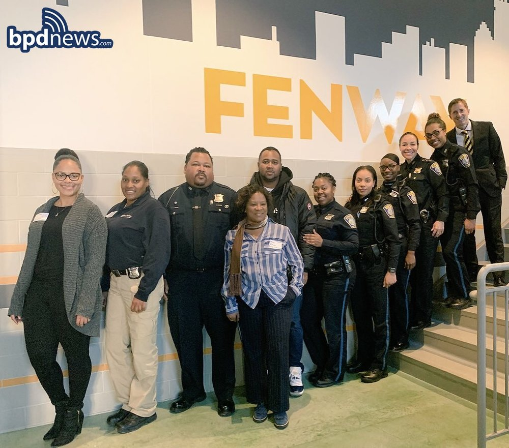 BPD in the Community: Officers from Across the City Participate in Career Day at Fenway High School in Roxbury