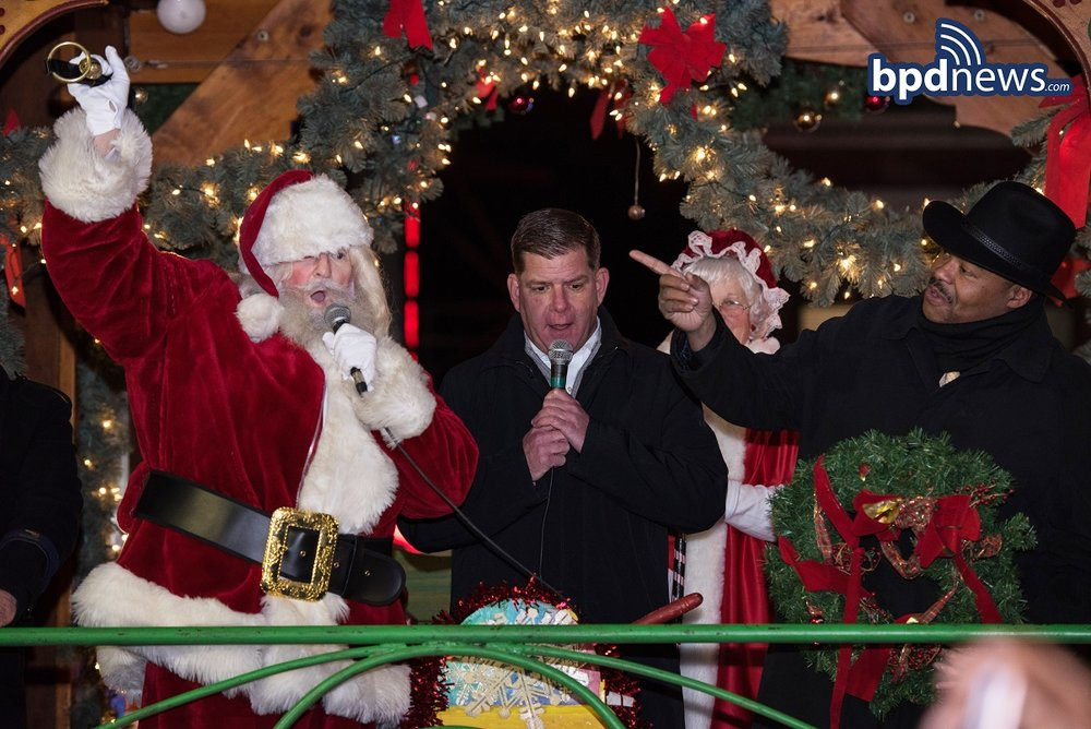 Mayor Walsh's Enchanted Tree Lighting and Trolley Tour Spreads Good Cheer During Fun Filled Stops All Over The City