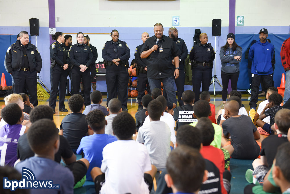 """""""No Books No Ball"""" Basketball Clinic Hosted by the BPD Takes Place in Roxbury"""