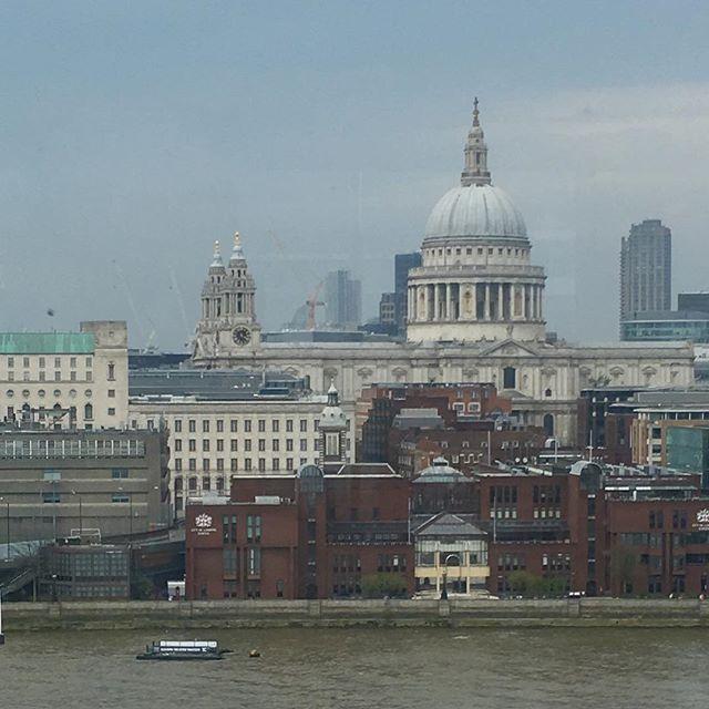 London from the Tate Modern #london #tatemodern #stpaulcathedral #stpauls #iphoneography #exploringlondon