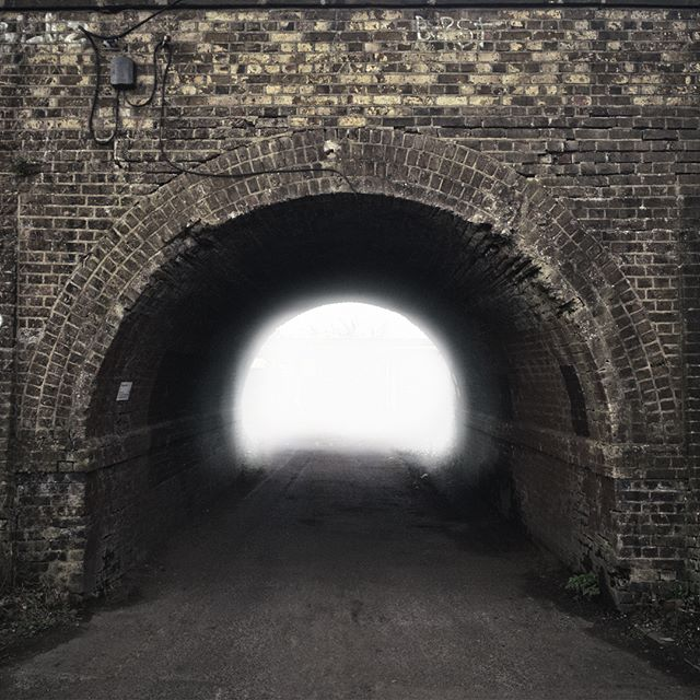 The tunnel of light. #iphoneography #cameraplus #madeinaffinity  #affinityphoto #beforeandafter #tunnels #chiswick