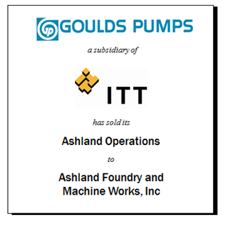 ITT Sells Ashland Foundry