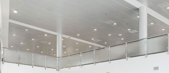 "MetalWorks TorsionSpan Custom Ceilings 24"" wide panels are available in custom lengths up to 120"" Available in various MetalWorks and Reflections Laminates finishes Price: $18-19 per SF (includes grid)-10/4/2012 link to web"