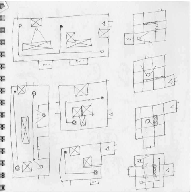 Early level drawings.