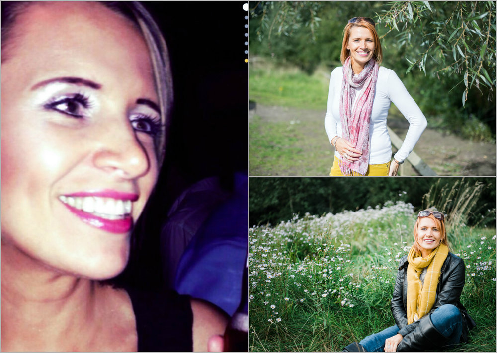 Left: Screen shot of Zoe's profile photo before our shooting. Right: two of my favourite photos taken at Chorlton Waterpark.
