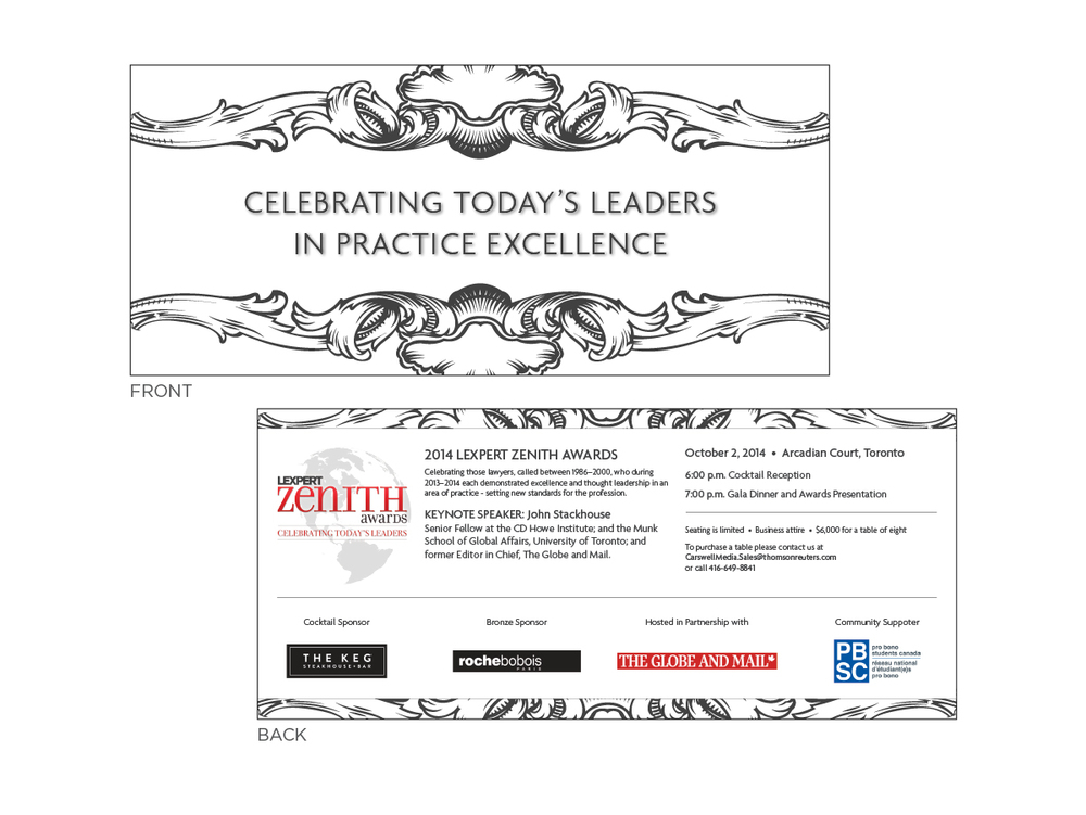 Zenith Awards - Invitation