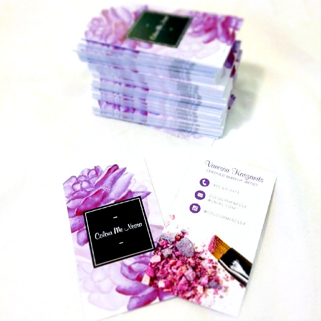 Vanessa K, MUA • Business Cards