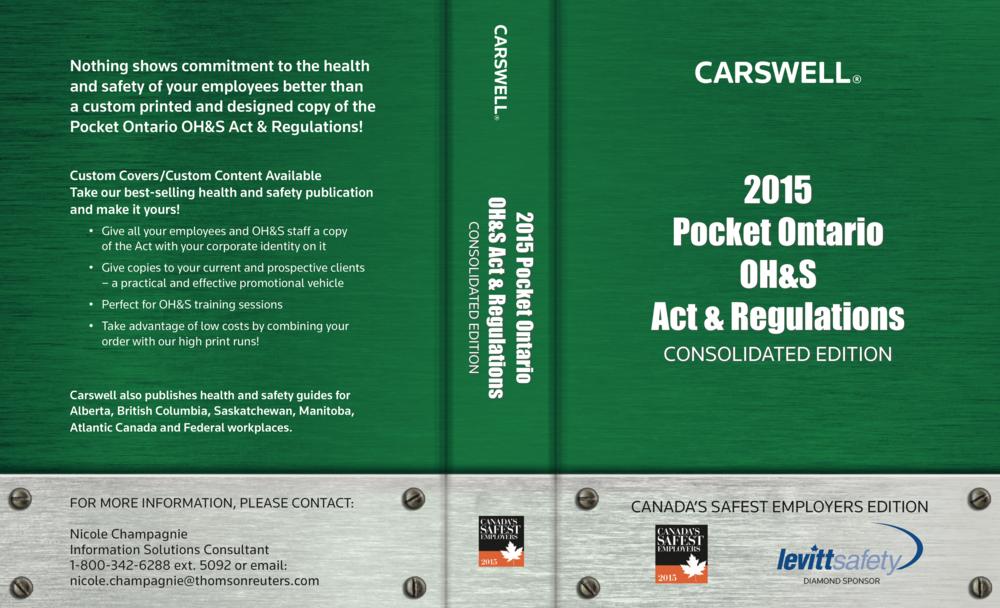 Pocket Ontario OH&S Handbook • 2015