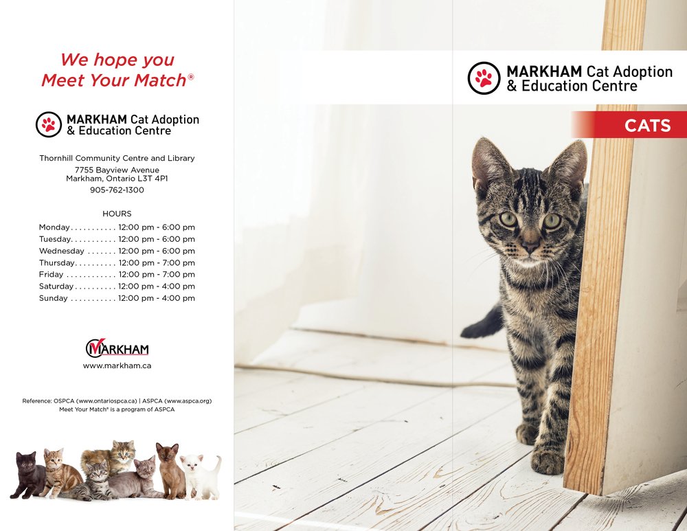Markham CAEC Cat Pamphlet • 2016