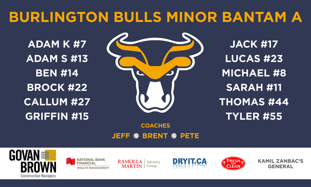 Burlington Bulls • Banner • June 2016