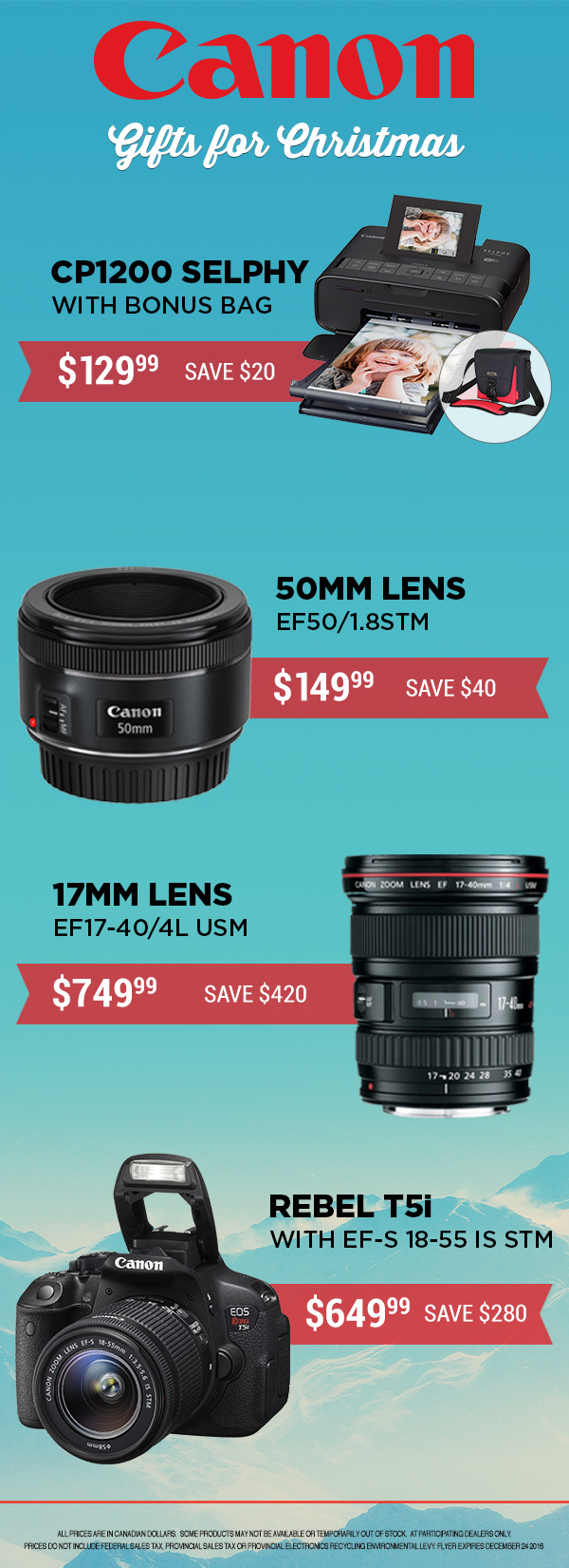 Canon Product eFlyer for FotoSource Canada Inc.