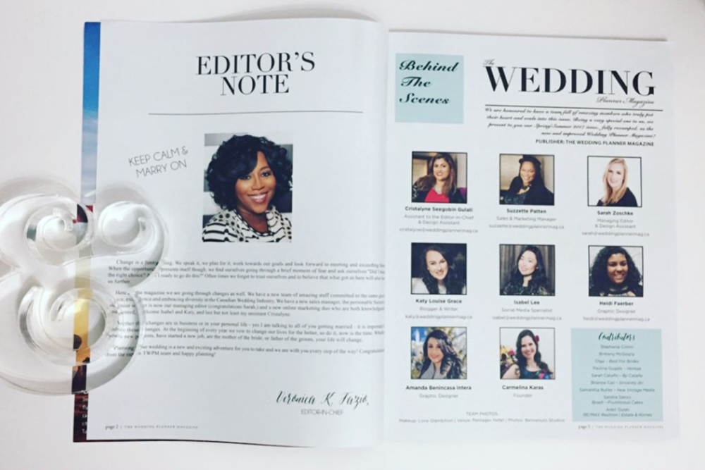 Wedding Planner Magazine • Spring/Summer 2017 Issue