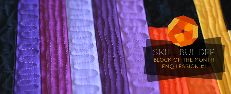 Free Motion Quilting Lesson #1 // Skill Builder BOM