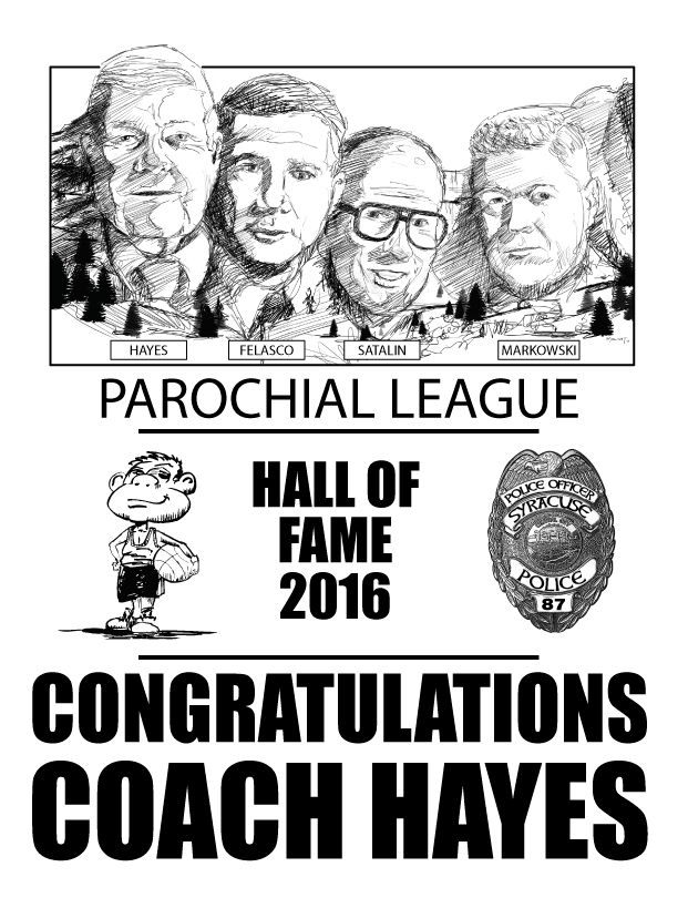 """I don't consider myself a portrait artist but when a dear friend came to me asking if I could put together a page commemorating the """"the four finest coaches"""" in the CNY (the forth being inducted in 2016)Hall of Fame, I couldn't refuse. This wasn't about a commission (I asked for none), it was about community."""