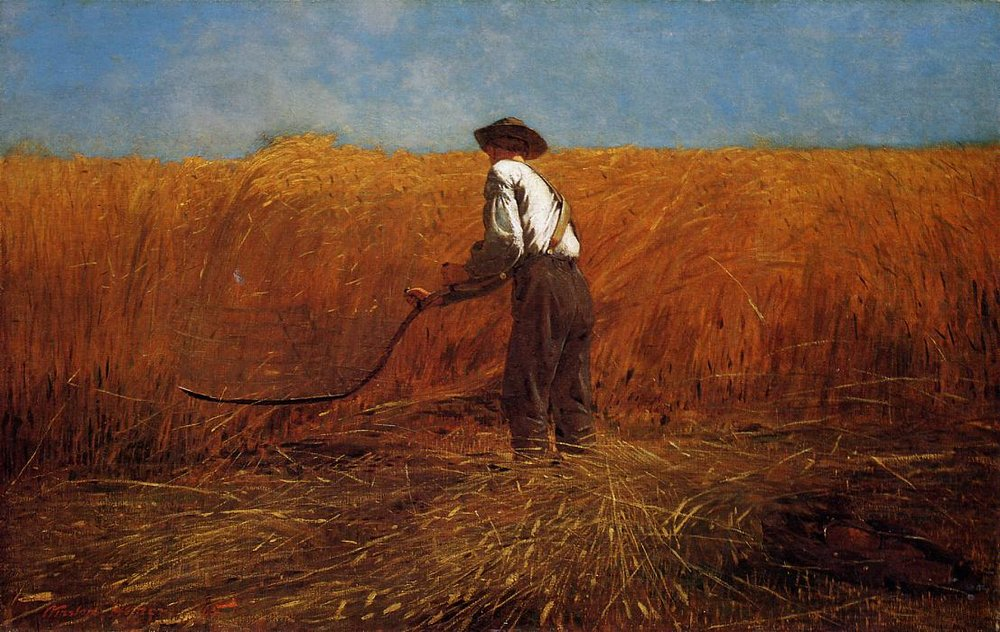 "Winslow Homer, ""The Veteran in a New Field."""