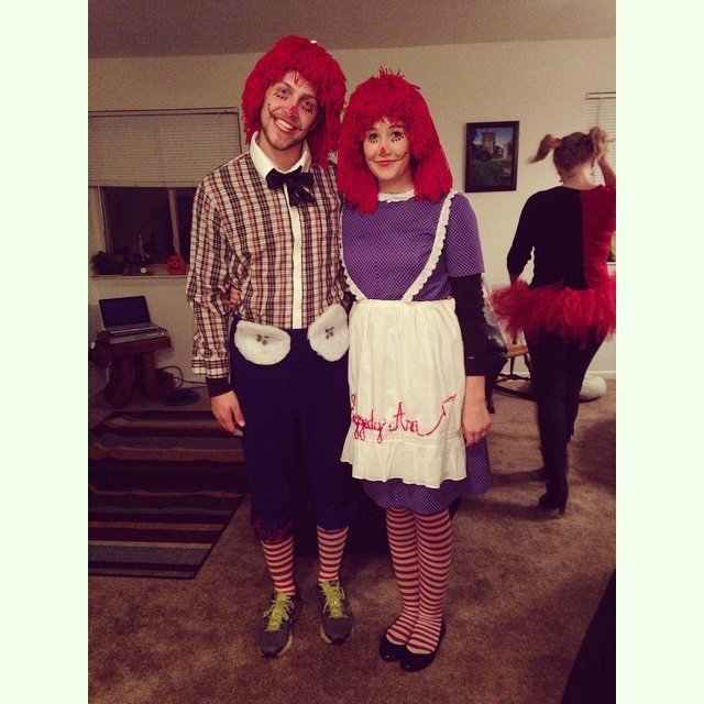 Raggedy Ann and Andy 😆 #halloween #raggedyannandandy