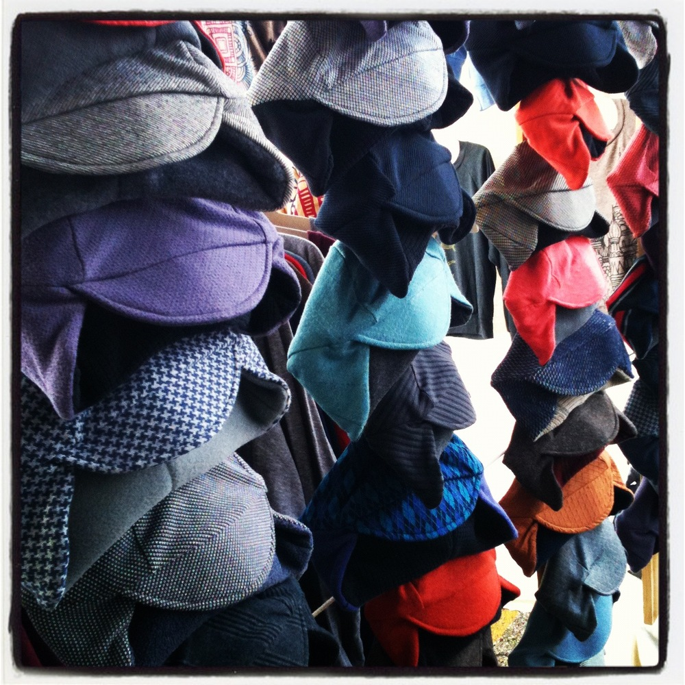 Hats on display during Crafty Bastards in D.C.