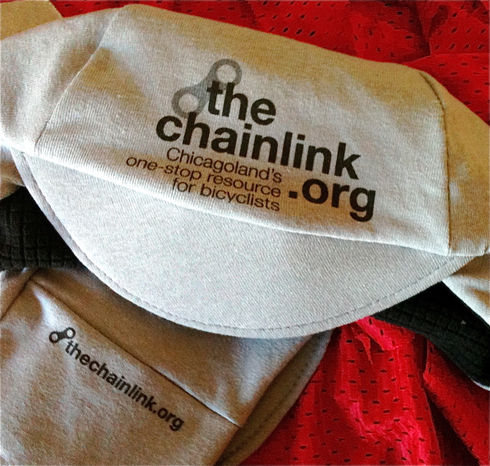 Mock-up of the caps I did for the Chainlink's fall fundraising raffle.
