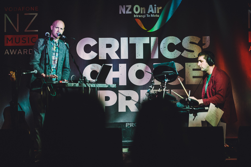Lake South, Randa & Estere  performing at the Critic's Choice Showcase at the Kings Arms Tavern, Auckland, New Zealand on October 29, 2014.