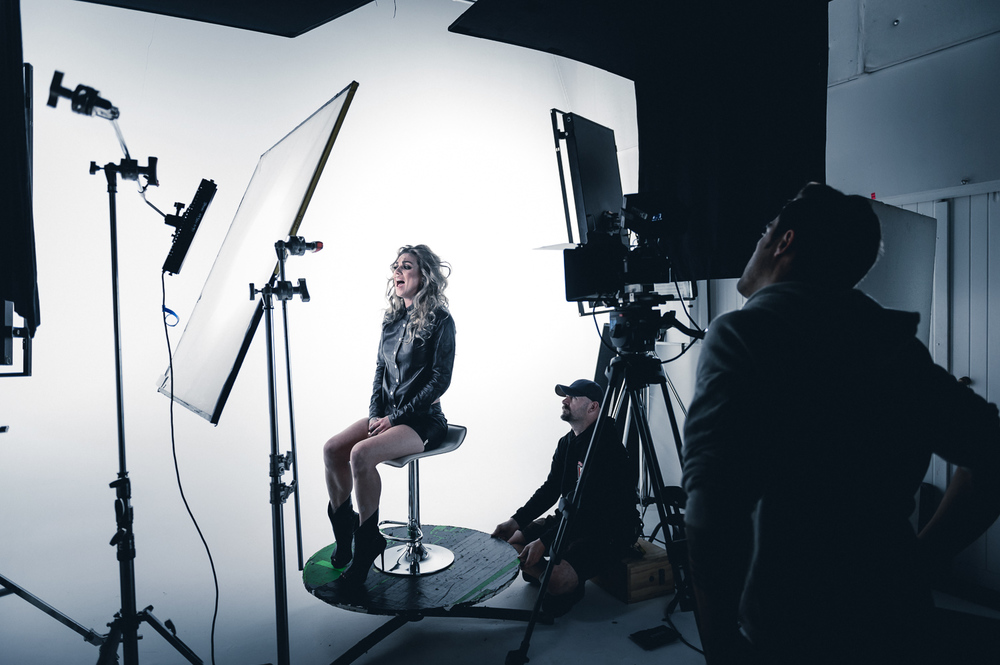 Coverage of the Hollie Smith Video Shoot at Spoon TV Studio in Auckland, New Zealand on July 21, 2015.