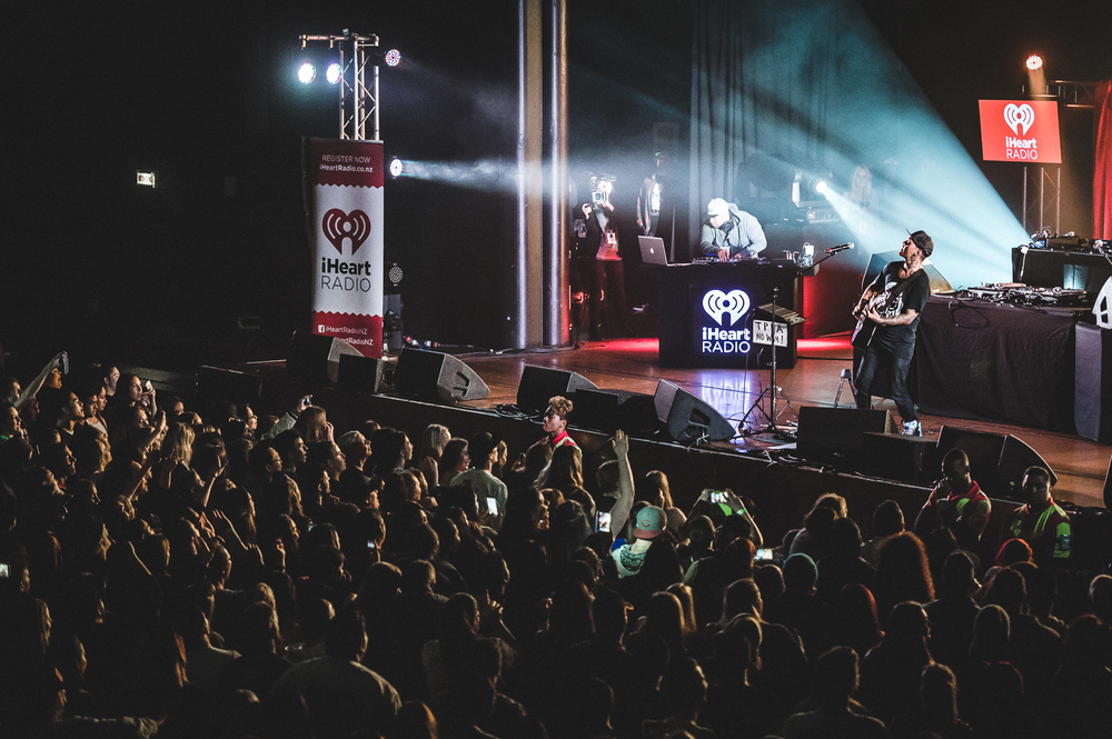 PNC, Tiki Taane, P-Money & Savage performing at the iHeart Radio Free Concert at Logan Campbell Centre, Auckland, New Zealand on August 14, 2015.