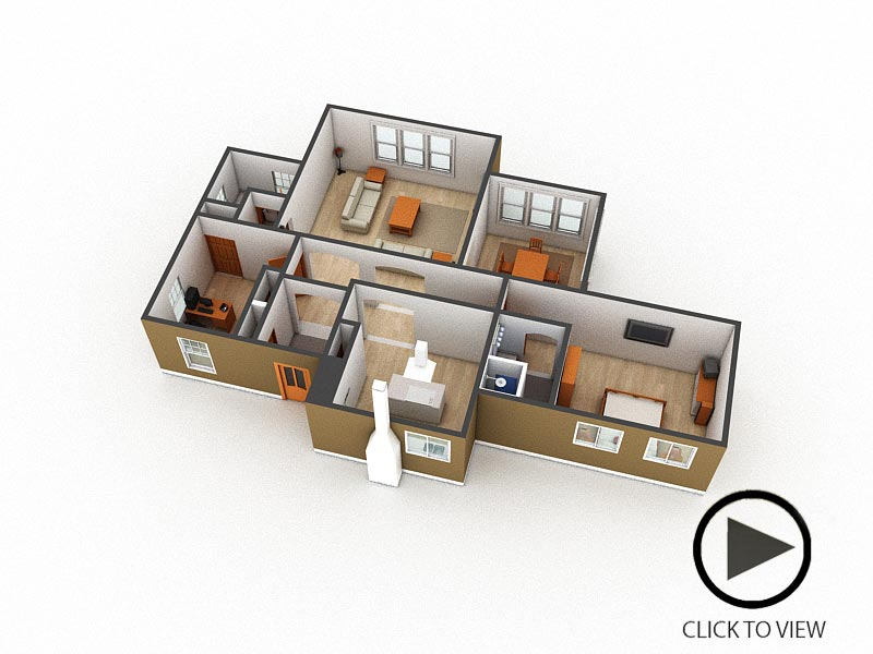 360 Interactive floorplan to demonstrate your design details. Click on image to view interactive floorplan.   Controls: Drag around to view 3d floorplan.