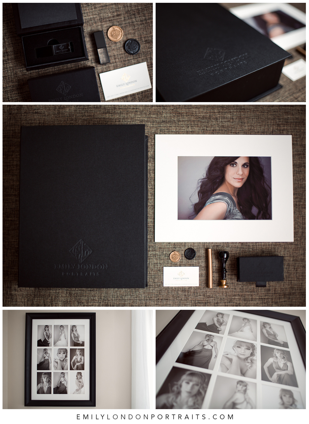 The beautiful products from a modern glamour photoshoot with Emily London Portraits in Salt Lake City.