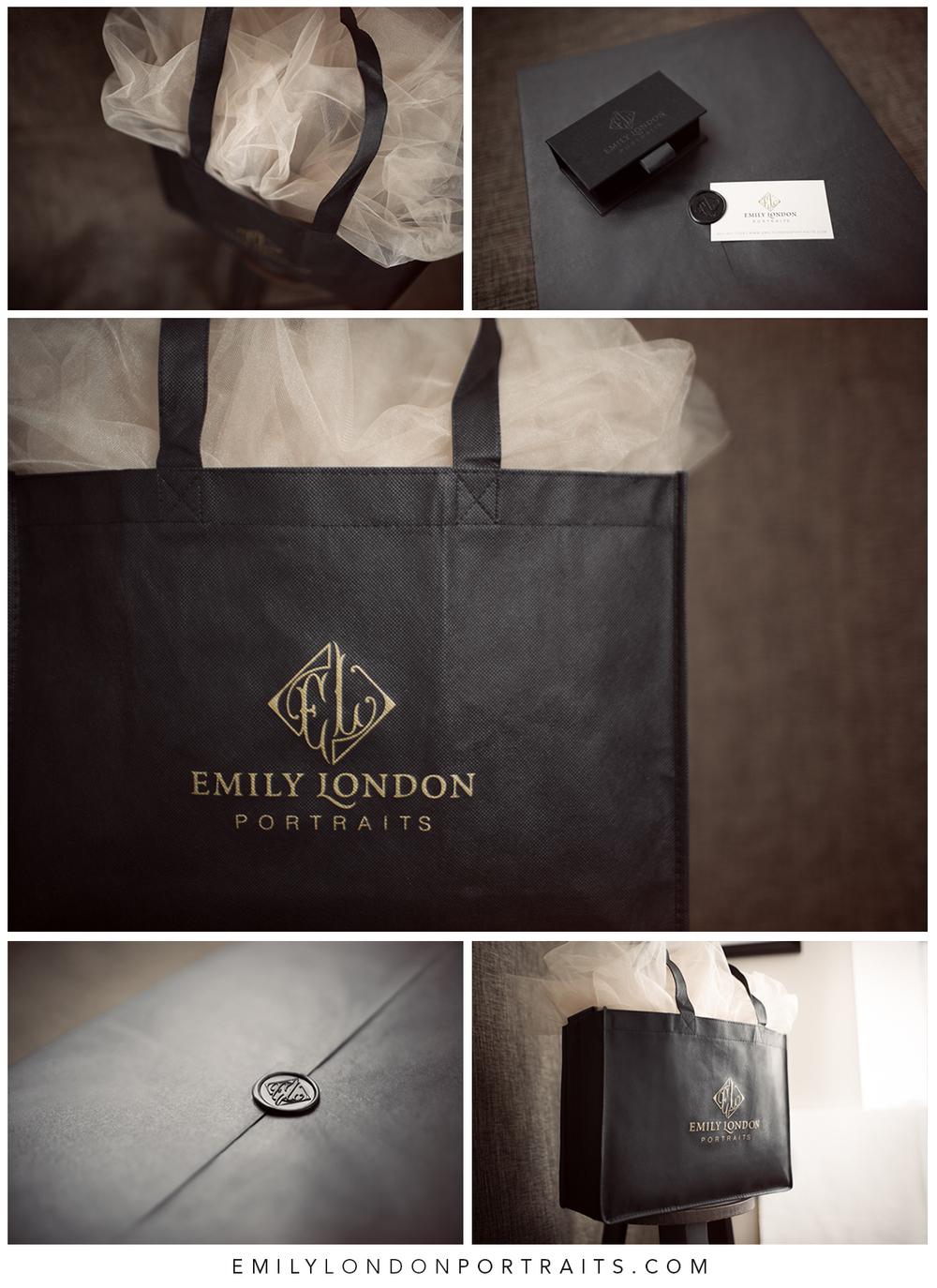 The beautiful packaging fromEmily London Portraits in Utah.