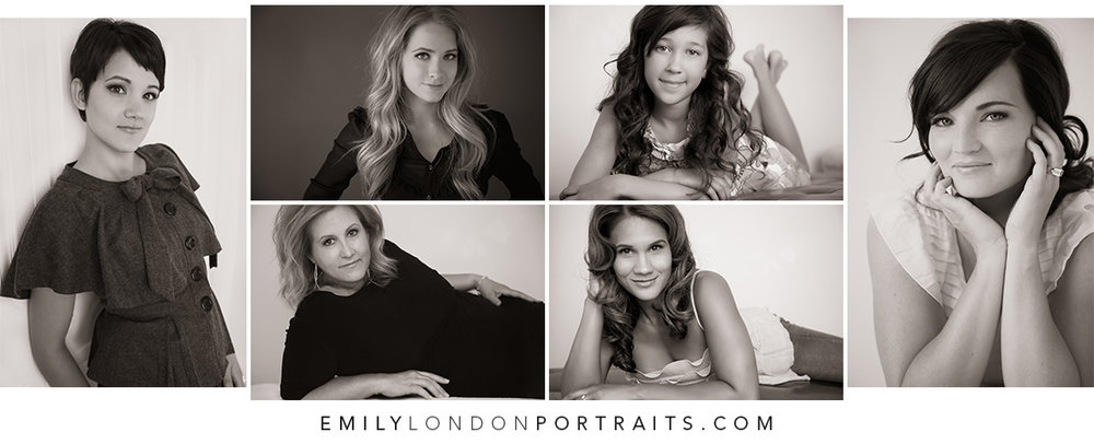 Images from my first five photoshoots, (including one mother & daughter shoot).