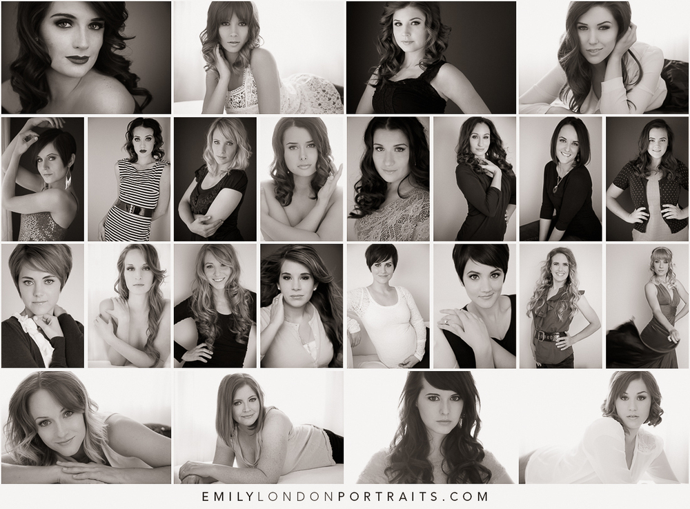 Glamour Bootcamp Photoshoots - 24 shoots in under two months.
