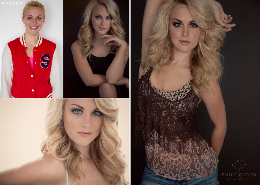 How to work with incredible makeup artists in your photography studio by Emily London Portraits in Utah Before and Afters for My Makeup Artist