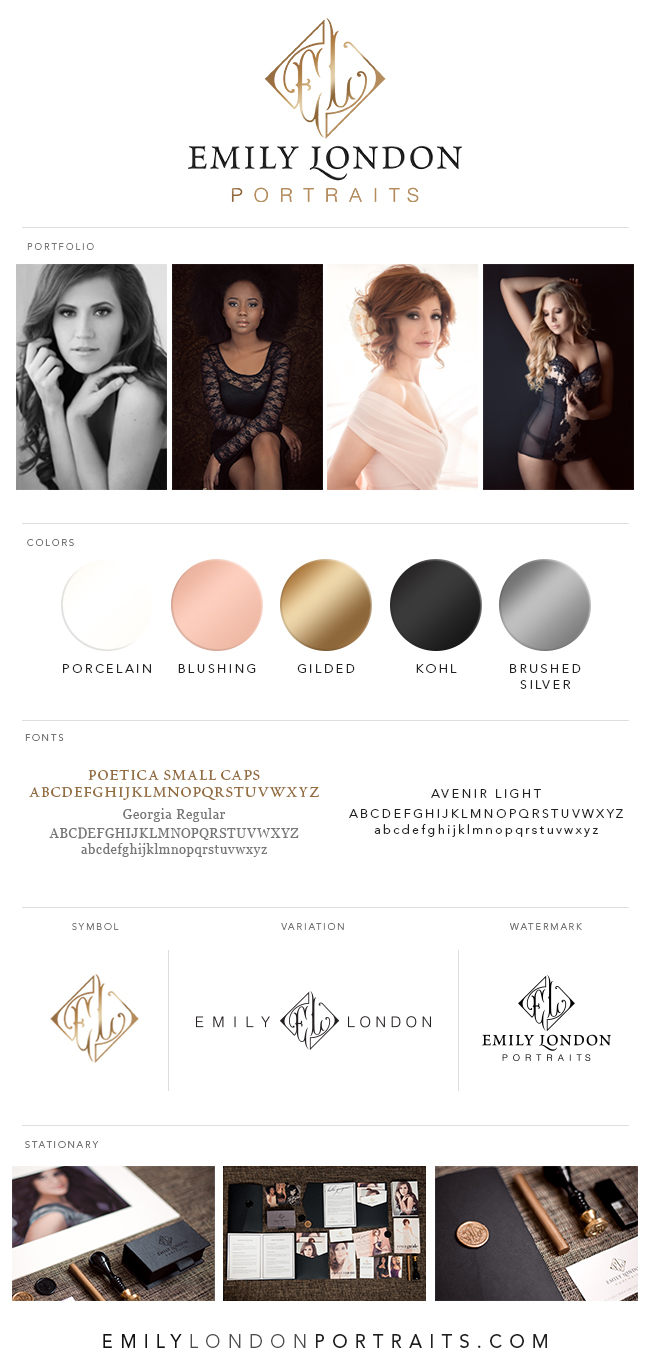 One of the best parts of starting a new business is designing the branding. This is the cheat sheet I made to keep everything together, and a step-by-step guide to perfecting your own branding | By Emily London Portraits in Salt Lake City.