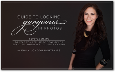 The Guide to Looking Gorgeous in Photos by Emily London Portraits teaches 5 simple steps to help you feel more confident and beautiful whenever you see a camera.