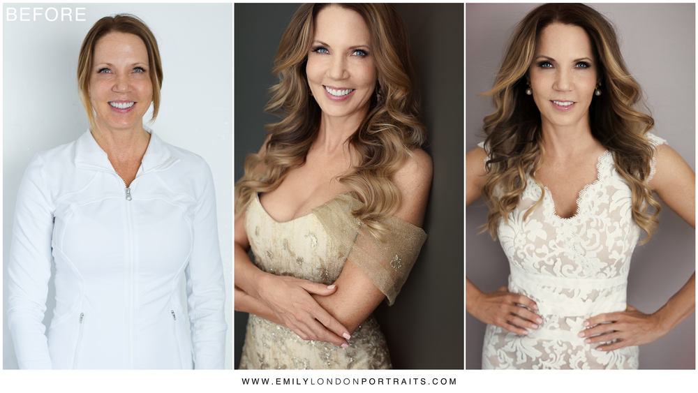 Beautiful Transformation Showing 45 is Fabulous (by Emily London Portraits)