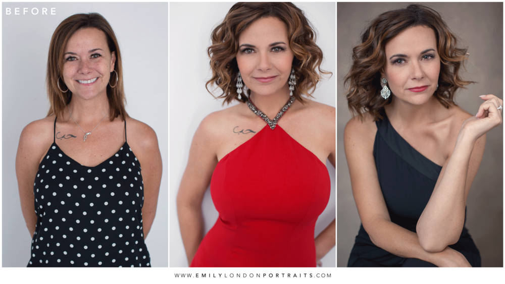 Transformation of a Wife, Mother, and Business Woman After a Photoshoot with Emily London Portraits