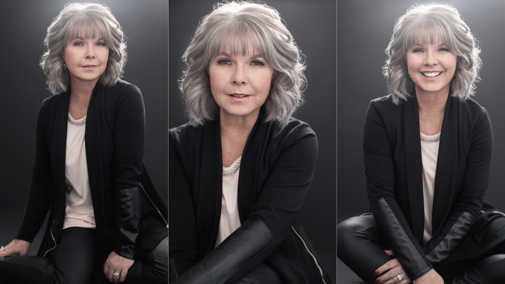 Beautiful Portrait of a Silver Haired Woman by Emily London Portraits