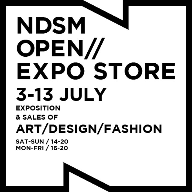 From 3 till 13 July the ITW space of NDSM will be transformed into a true EXPO STORE! Visit this awesome store for all the work designed and produced by NDSM artists, designers and craftsmen. Don't miss it!  See www.ndsmopen.nl for more information.