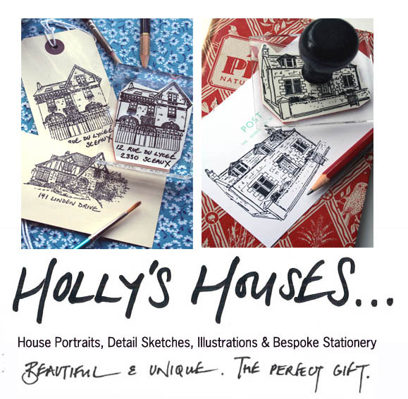 Holly's Houses - House Portraits, Detail Sketches, Illustrations and Bespoke Stationary.