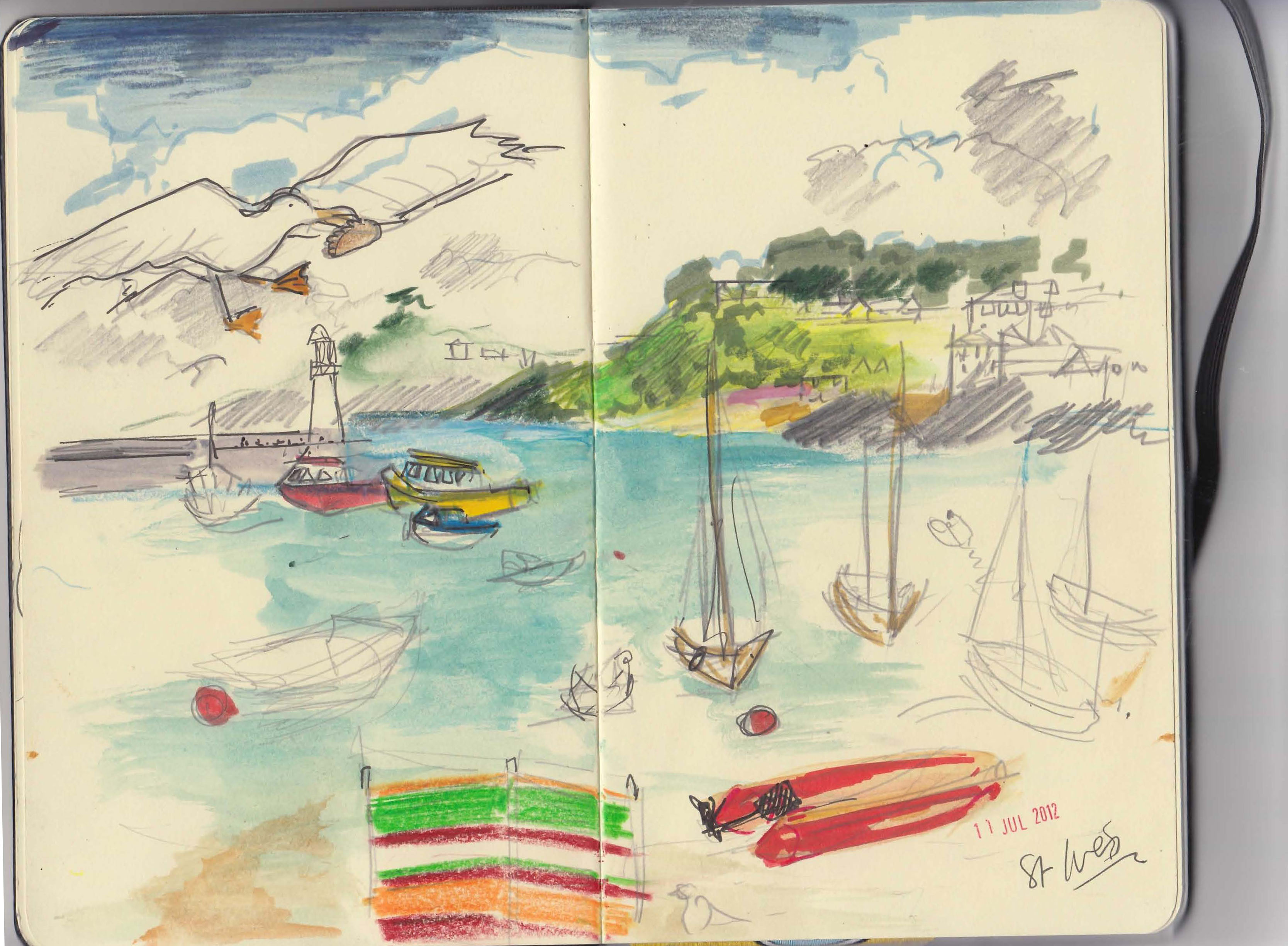 St Ives Harbour sketch