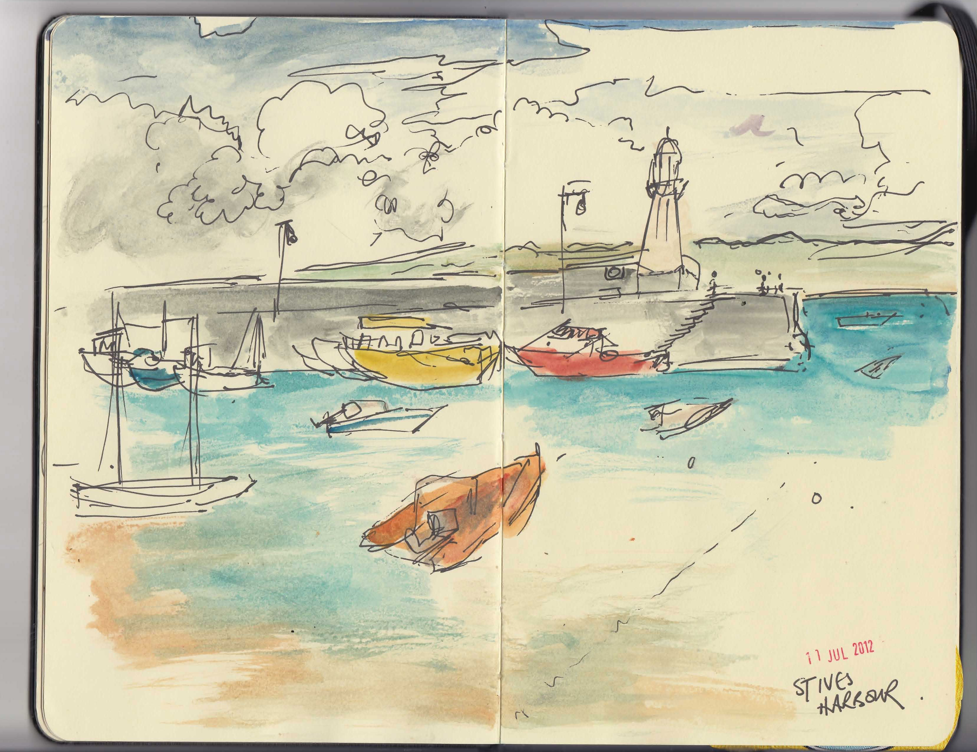 St Ives harbour again