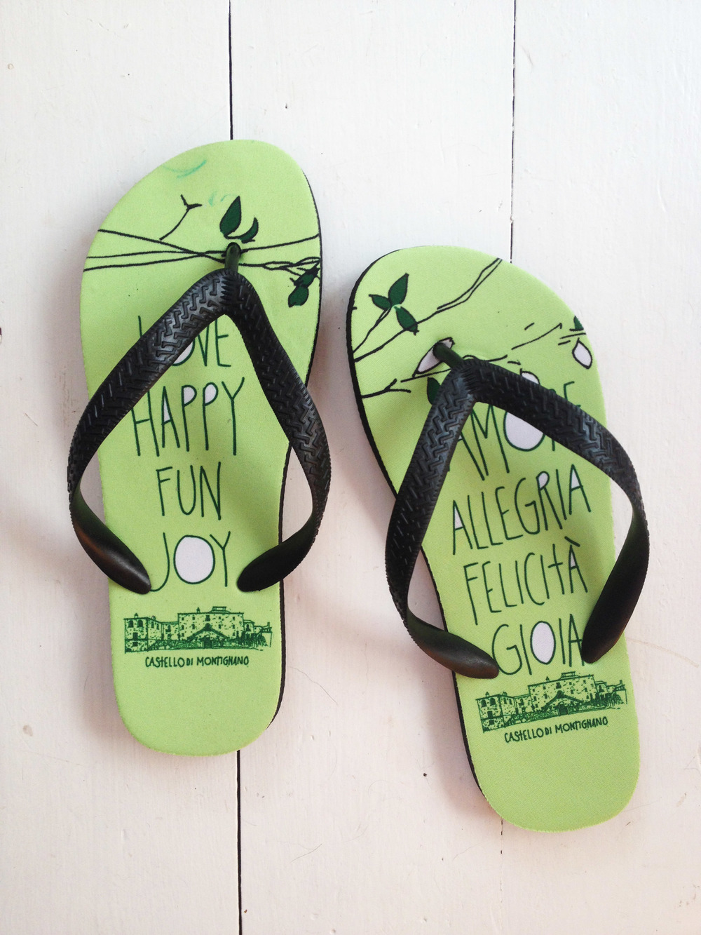 Andrew & Chiara flip flops!