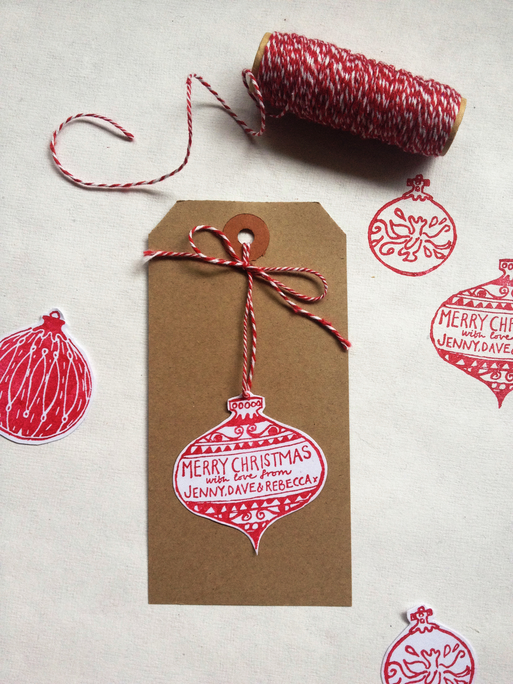 Baubles Stamp Set - swinging tag