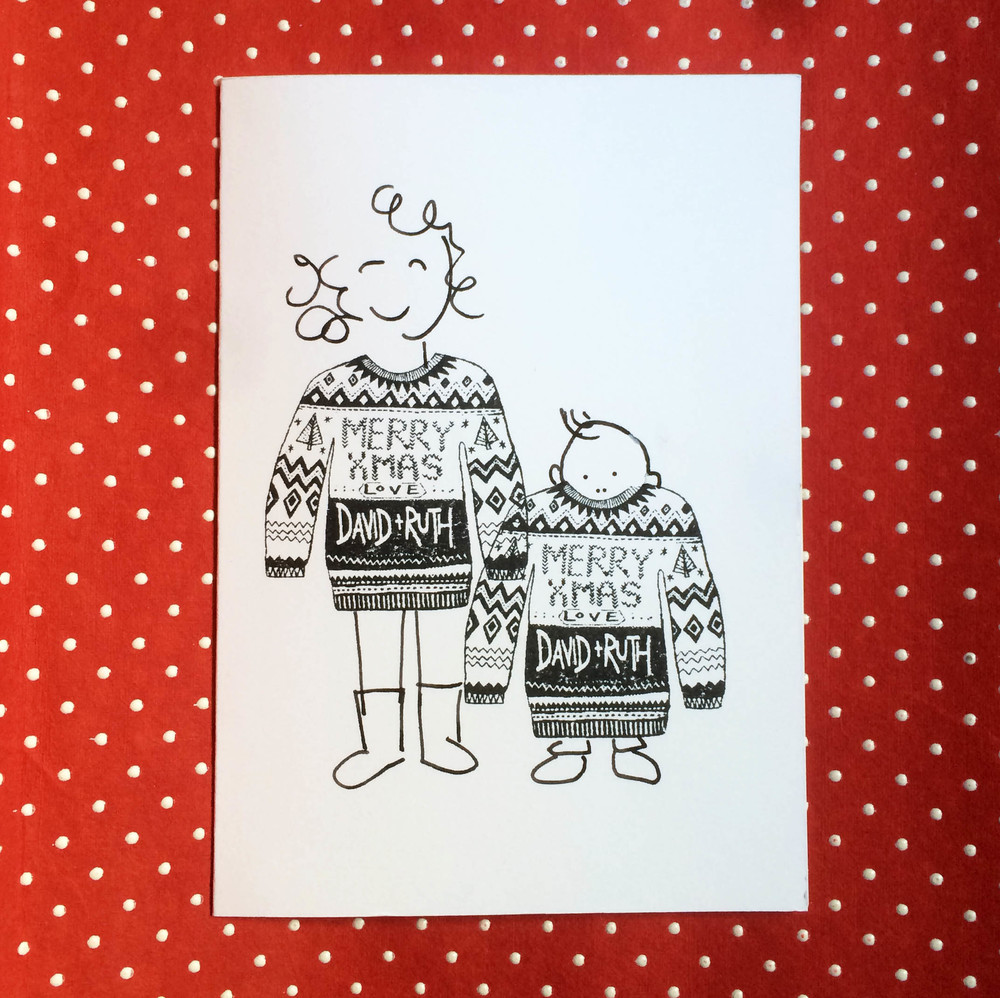 Bloomfield and Rolfe Christmas Jumper stamp