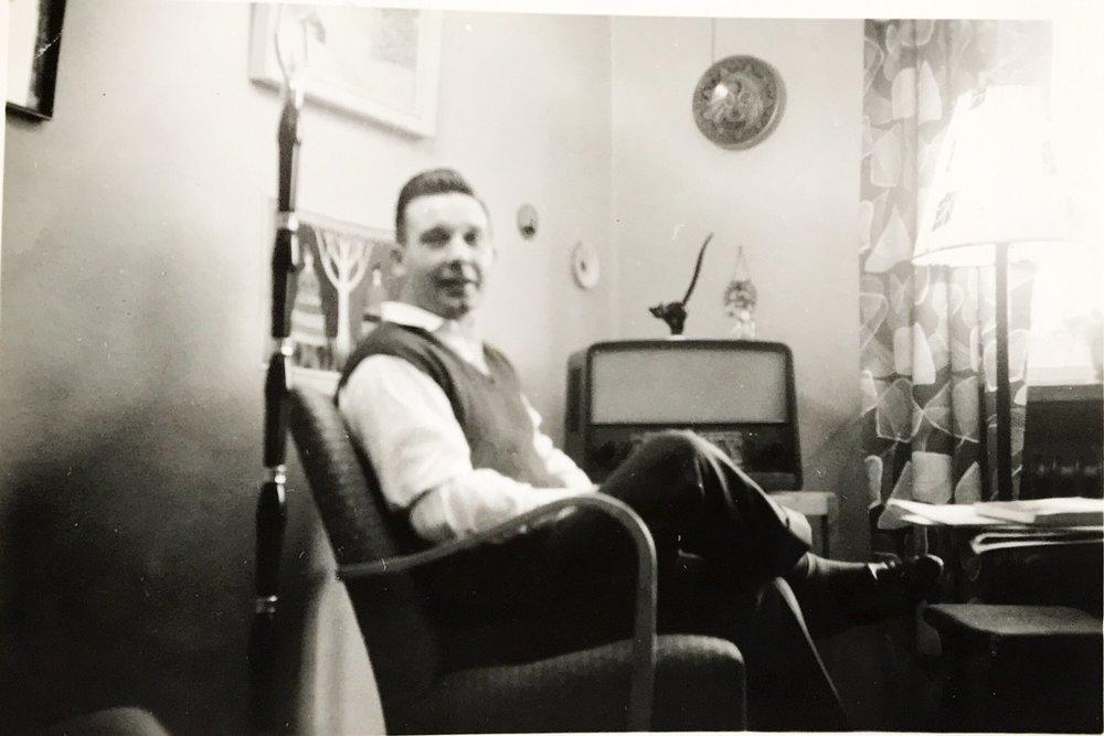 Nils som ung. 1950-tal.